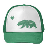 Vintage Green California Love Trucker Hat