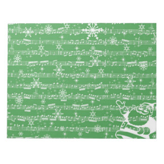 Vintage Green Christmas Musical Sheet Notepad