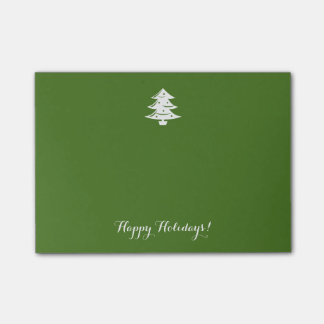 Vintage green Christmas tree custom Holiday Post-it Notes