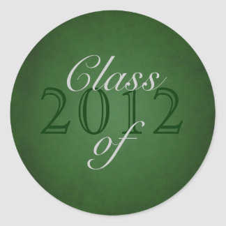 Vintage Green Class of Silver Graduation Sticker