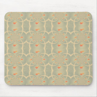 Vintage Green Cream Damasc Pattern Mouse Pads