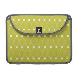 Vintage Green Diamond Pattern Sleeves For MacBook Pro