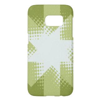 Vintage green halftone star