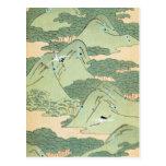 Vintage Green Landscape Post Cards