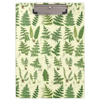 Vintage Green Leafy Plants Clipboard