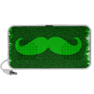 Vintage Green Mustache iPod Speakers