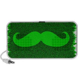 Vintage Green Mustache Notebook Speakers