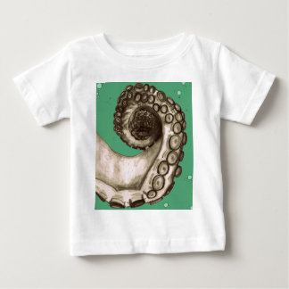 Vintage Green Nautical Octopus Tentacle Baby T-Shirt