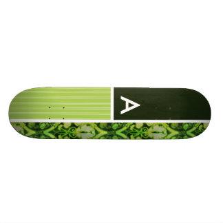 Vintage Green Pattern Skateboard Decks