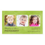 Vintage Green Portrait Photographer Business Card