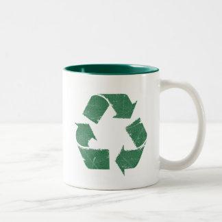 Vintage Green Recycle Sign Mug