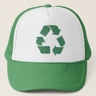 Vintage Green Recycle Sign Trucker Hat