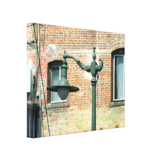 Vintage Green Street Lamp Canvas Prints