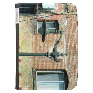 Vintage Green Street Lamp Kindle Cover