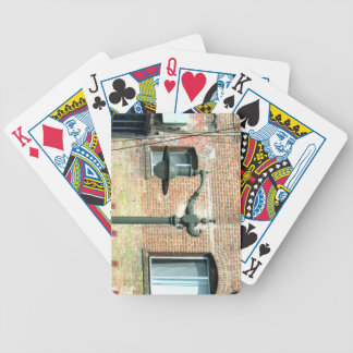 Vintage Green Street Lamp Deck Of Cards