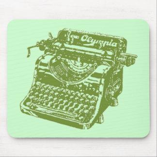 Vintage Green Typewriter Mouse Mats