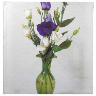Vintage Green Vase with flowers Napkin