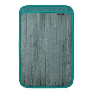Vintage Green Wood Pattern MacBook Air Sleeves