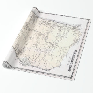 Vintage Greenburgh and Westchester NY Map (1867) Wrapping Paper