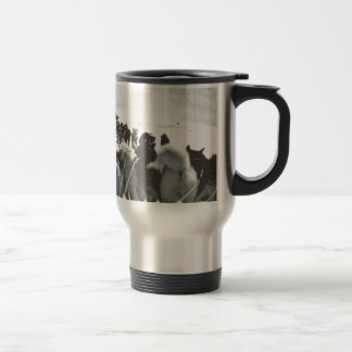 Vintage Greenland, arctic dog teams Travel Mug
