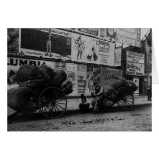 Vintage Greeting Card of NYC Workers on Street