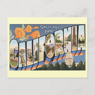 Greeting moving new home announcements zazzle vintage greetings california change of address announcement postcard m4hsunfo