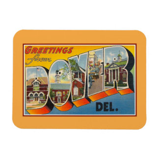 Vintage greetings from Dover Delaware Magnet
