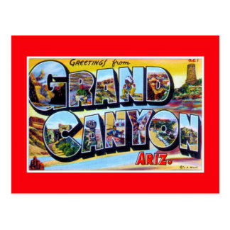 vintage Greetings from Grand Canyon Arizona Postcard