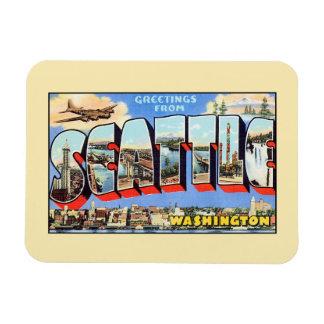 Vintage greetings from Seattle Washington Magnet
