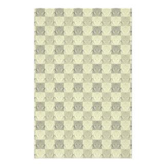 Vintage Grey Beige Embossed Pattern Full Color Flyer