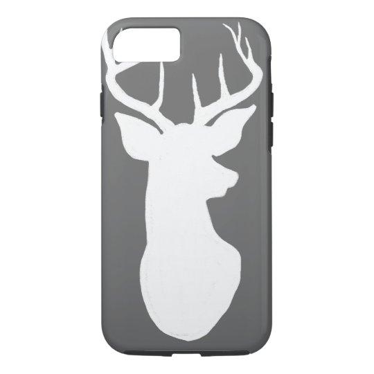 Vintage Grey Chalkboard White Stag Reindeer iPhone 7