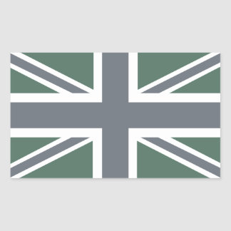 Vintage Grey Classic Union Jack British(UK) Flag Rectangular Sticker