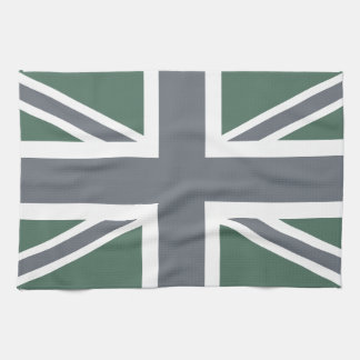 Vintage Grey Classic Union Jack British(UK) Flag Tea Towel