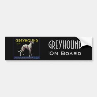 Vintage Greyhound Lemon Label Circa 1920 Bumper Sticker