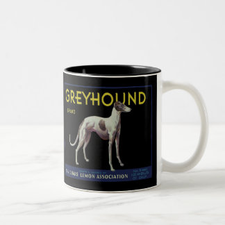 Vintage Greyhound Lemon Label Circa 1920 Two-Tone Mug