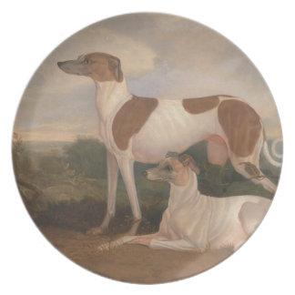 Vintage Greyhounds Plate