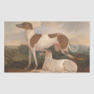Vintage Greyhounds Rectangular Sticker