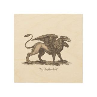 Vintage griffin (gryphus greiff) illustration. wood print