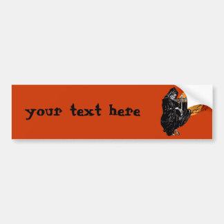 Vintage Grim Reaper Bumper Sticker