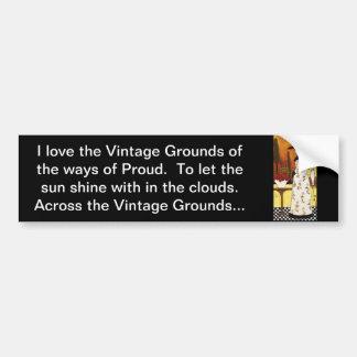 Vintage Grounds Bumper Sticker