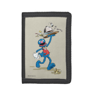 Vintage Grover the Waiter Trifold Wallet