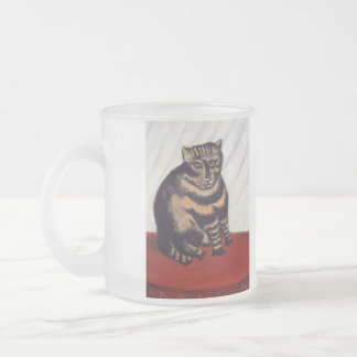 Vintage Grumpy Cat Frosted Glass Mug