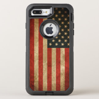 Vintage Grunge American Flag America Patriotic OtterBox Defender iPhone 8 Plus/7 Plus Case