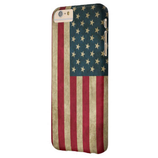 Vintage Grunge American Flag Barely There iPhone 6 Plus Case