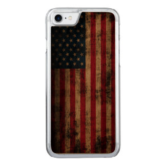 Vintage Grunge American Flag Carved iPhone 8/7 Case
