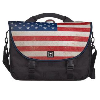 Vintage Grunge American Flag Laptop Bags
