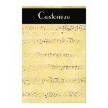 Vintage Grunge Antique Musical Notes Stationery