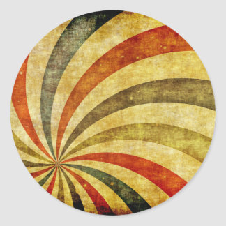 Vintage Grunge Background as Carnival Circus Classic Round Sticker