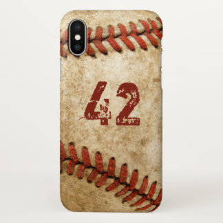 Vintage Grunge Baseball Personalized Your Number iPhone X Case