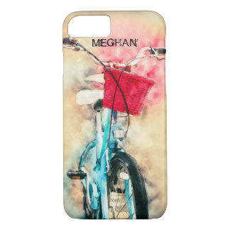 Vintage Grunge Bicycle With Basket and Handbreaks iPhone 8/7 Case